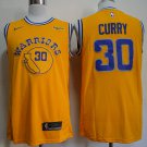 Men's Sephen Curry Warriors 30 jersey yellow