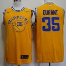 Men's Warriors #35 Kevin Durant  jersey  yellow