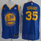 Men's Warriors #35 Kevin Durant  jersey  blue