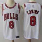 Men's Chicago Bulls # 8 Zach LaVine  jersey white