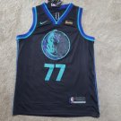 Men's Dallas Mavericks #77 Luka Doncic Jersey Black City Edition