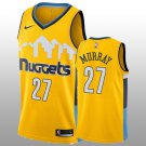 Men 2018-19 Denver Nuggets #27 Jamal Murray statement Edition Jersey - yellow