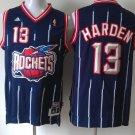 Men's Rockets #13 James Harden Stripe Jersey Blue Throwback
