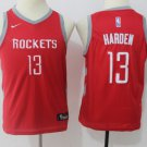 Youth Boys James Harden Rockets 13 jersey red