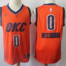 Men's OKC Thunders #0 Russell Westbrook  Earned Edition  Jersey orange