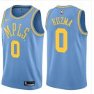 Men's Lakers #0 kyle kuzma MPLS  jersey blue