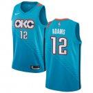 Men's Oklahoma City Thunder #12 Steven Adams Basketball Jersey Blue Earned Edition