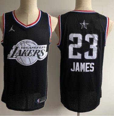 online retailer 3d7a0 16d6e Men's Lakers 23 Lebron James 2019 all star jersey black