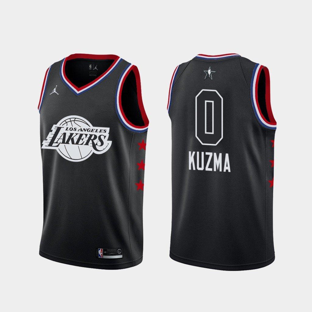 Men's Lakers #0 Kyle Kuzma 2019 All-Star jersey black