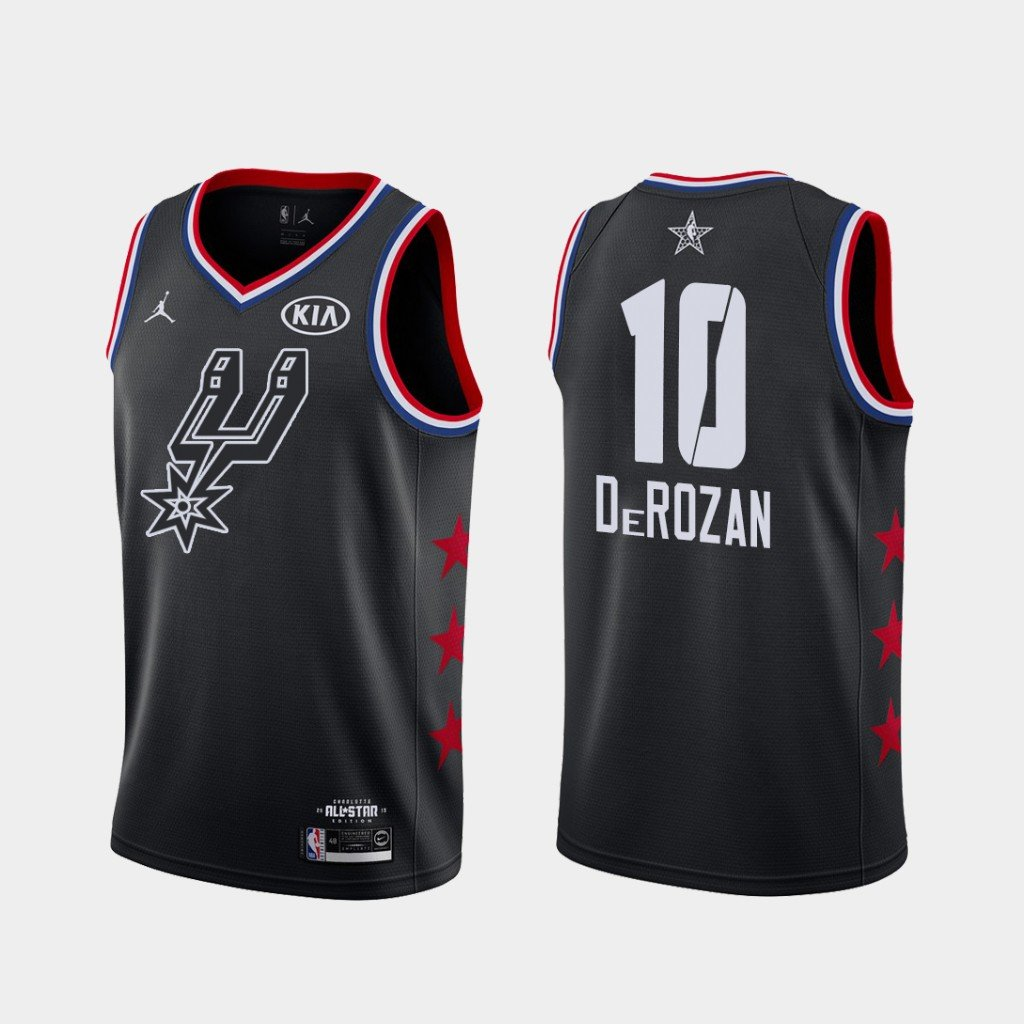 Men's Spurs #10 Demar Derozan 2019 All-Star jersey black