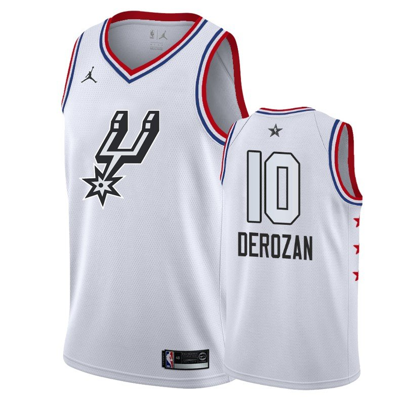Men's Spurs #10 Demar Derozan 2019 All-Star jersey white