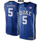 Men's  RJ Barrett Duke Devils college  jersey blue