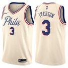Men's Allen Iverson 76ers 3 2019 new   jersey cream city editon