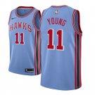 Men's Trae Young Atlanta Hawks  hardwood classic jersey light blue