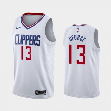 big sale 8a3a9 20b86 Youth boys #13 Paul George Clippers white Basketball Jersey