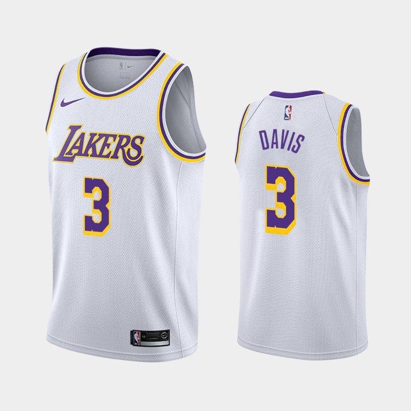 Men's  Anthony Davis  Los Angeles Lakers #3 association Edition  Jersey white