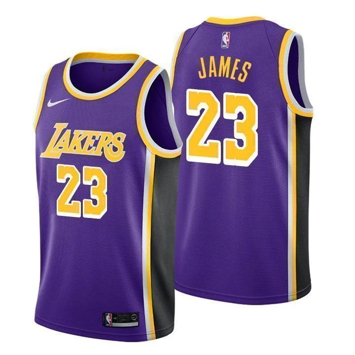 brand new 7db43 aff00 Men's Lebron James Los Angeles Lakers #23 purple jersey statement edition