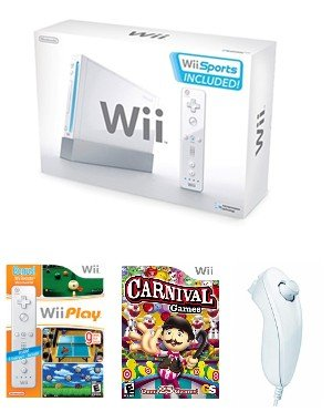 Nintendo Wii 39 Game Bundle - With 39 Fun Games and 4 Controllers + FREE SHIPPING