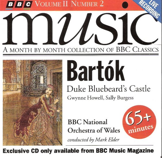 Music CD Classical Barto'k, Duke Bluebeard's Castle BBC Classic  3.00 shippping included