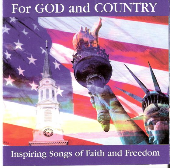 """Music CD Inspirational """"For God and Country"""" 9-11-2001 used CD $3.00 shipping included"""
