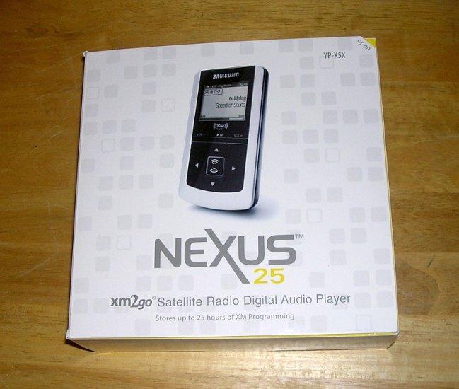 Samsung YP-X5X neXus XM Satellite Radio and 512MB MP3 Player