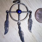 Native American style sun wheel pendant