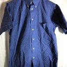 Blue Dress Polo Men's Small 14 1/2 Short Sleeve Bill Blass