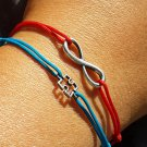 Infinity bracelet, sterling silver