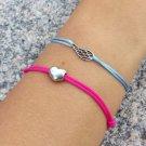 Wing bracelet, Sterling Silver, Inspirational, Cord Bracelet, Wing Charm