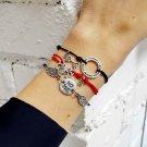 Wolf bracelet, sterling silver