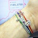 Bitcoin bracelet, sterling silver