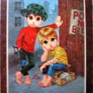60s Litho Big Eye Sad Children Art #4 by Lee LIKE NEW