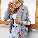 Women Shrug Knitted Turn Down Collar Sweater Cardigan