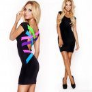 Women Backless Sleeveless Bandage Mini Dress