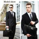 Men Vintage Style PU Leather Briefcase Solid Bag