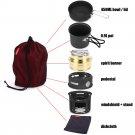 7pcs Outdoor Tableware Set Stove Cookware Travel Kit Bowl Pot Cooker Set