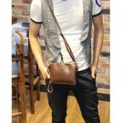 Men Retro Leather Small Messenger Shoulder Bag