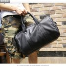 Men PU Leather Bucket Handbag Shoulder Bag Luggage Bag