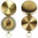 Portable Brass Pocket Golden Double Display Navigation Keychain Compass