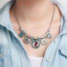 Women Choker Bohemian Boho Collar Big Pendant Necklace