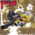 P90 Electric Auto Graffiti CS Water Bullet Bursts Toy Gun