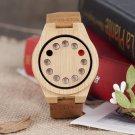 Men Luxury Quartz Casual Bamboo Wood Wristwatch
