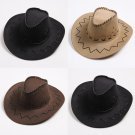 Men's Cowboy Cap Wide Brim Hat