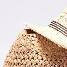 Men Women Jazz Straw Hat Casual Panama Cap Hat Visor Cap