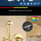 Golden Crystal Bathroom Faucet Bidet Sprayer Mixer Tap
