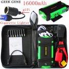 16000mAh 600A 12V Portable Emergency Car Battery Charger Jump Starter