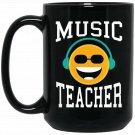 Music Teacher for Music Teachers Black  Mug Black Ceramic 11oz Coffee Tea Cup