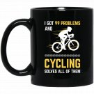 Mens Road Cycling Novelty Mountain Biking Cyclist Gift Black  Mug Black Ceramic 11oz Coffee Tea Cup
