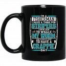 Mens Funny Fishing s For Men I_m a Fisherman Black  Mug Black Ceramic 11oz Coffee Tea Cup