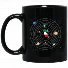 Kuwait map in Galaxy funny Black  Mug Black Ceramic 11oz Coffee Tea Cup
